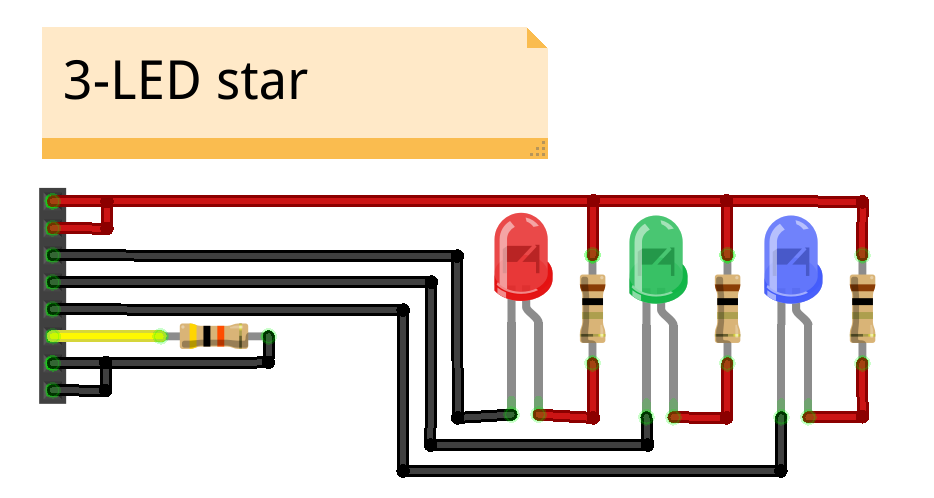 put the blade identifier resistor in the blade connector and solder it in   then attach the positive wires from the led star to the blade connector